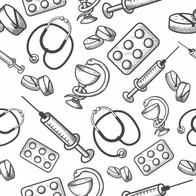 626x626 Seamless Background Of Medical Items Vector Free Download