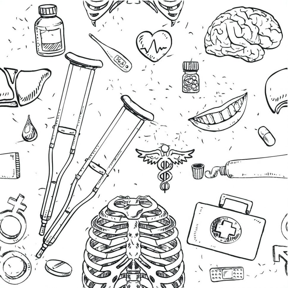 970x970 Coloring Medical Coloring Pages Astounding Lovely Book Page Free