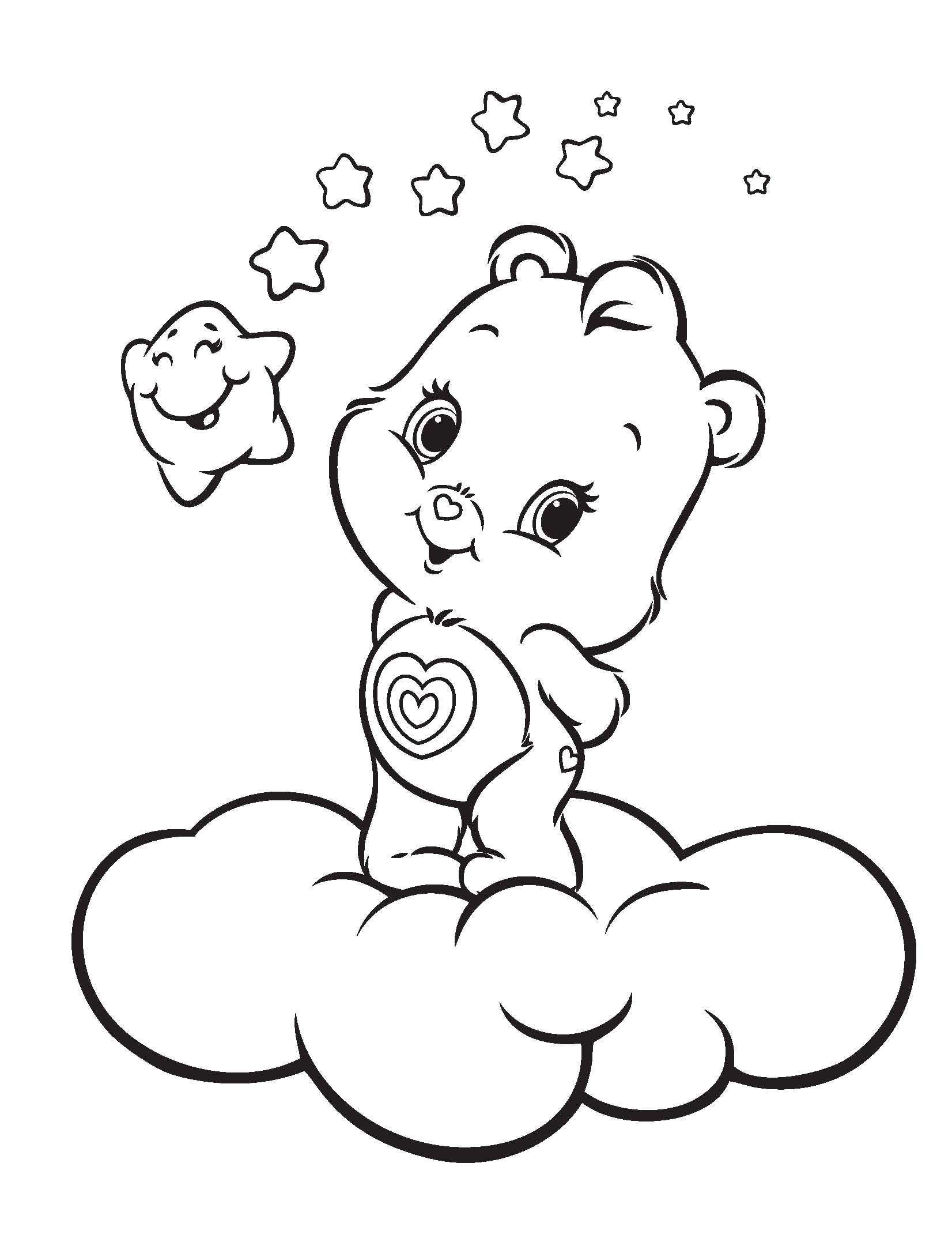 1652x2180 Drawing Care Bear Coloring Pages 11 For Free Online With Care Bear
