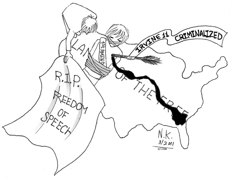 792x612 Political Cartoon R.i.p. Freedom Of Speech Al Talib
