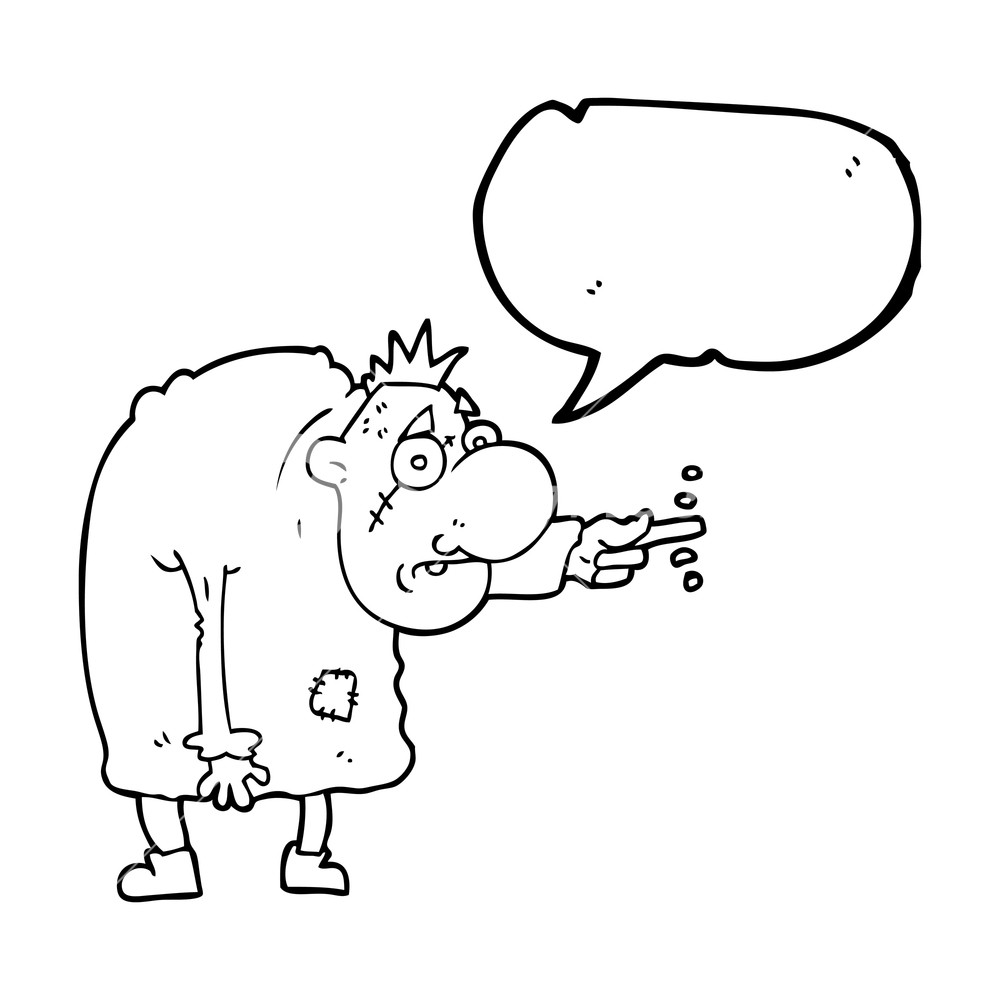1000x1000 Freehand Drawn Speech Bubble Cartoon Igor Royalty Free Stock Image