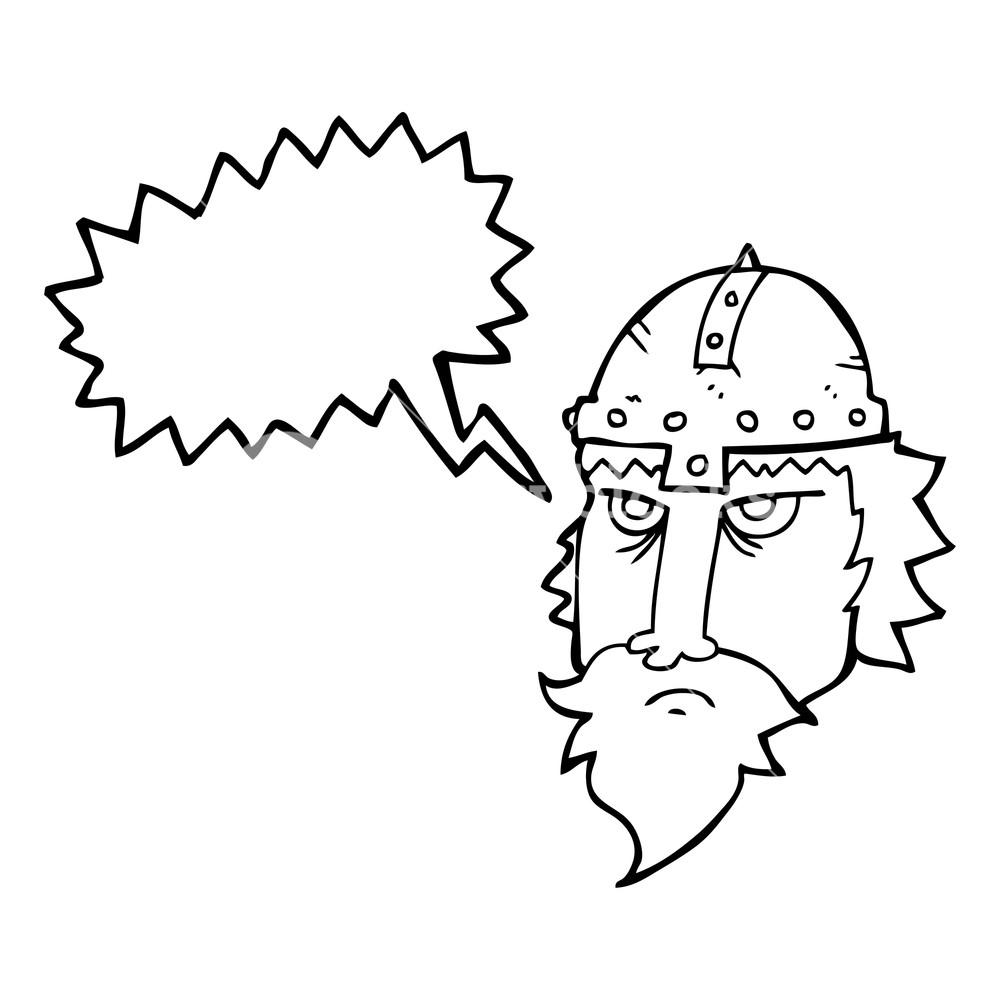 1000x1000 Freehand Drawn Speech Bubble Cartoon Viking Warrior Royalty Free