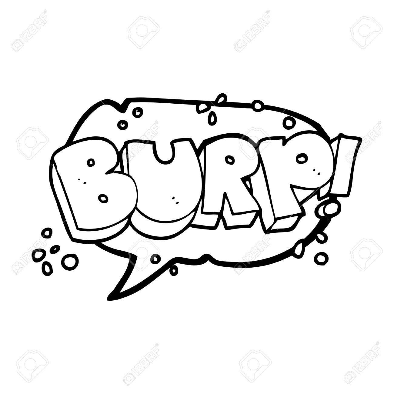 1300x1300 Freehand Drawn Speech Bubble Cartoon Burp Text Royalty Free