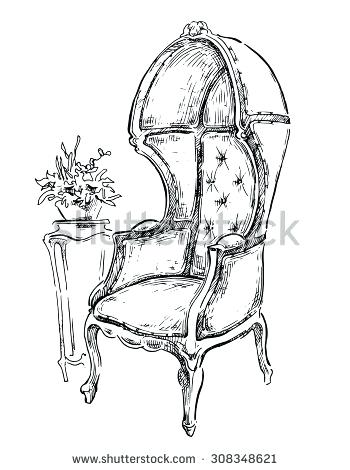 350x470 Drawing Furniture Sketch Stock Images Royalty Free Vectors Vector