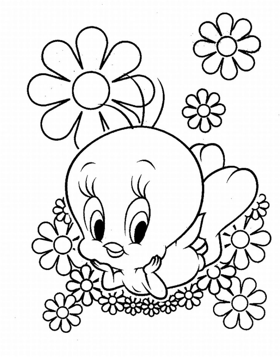 911x1162 Coloring Sheet Free Baby Tweety Coloring Pages Disney