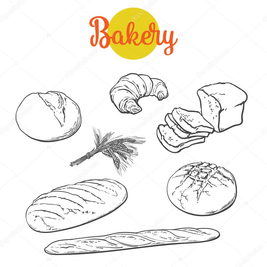 1024x1024 Fresh Pastries, Crisp Bread Isolated Stock Photo Sabelskaya