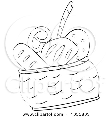 450x470 Clipart Colored And Outlined French Bread
