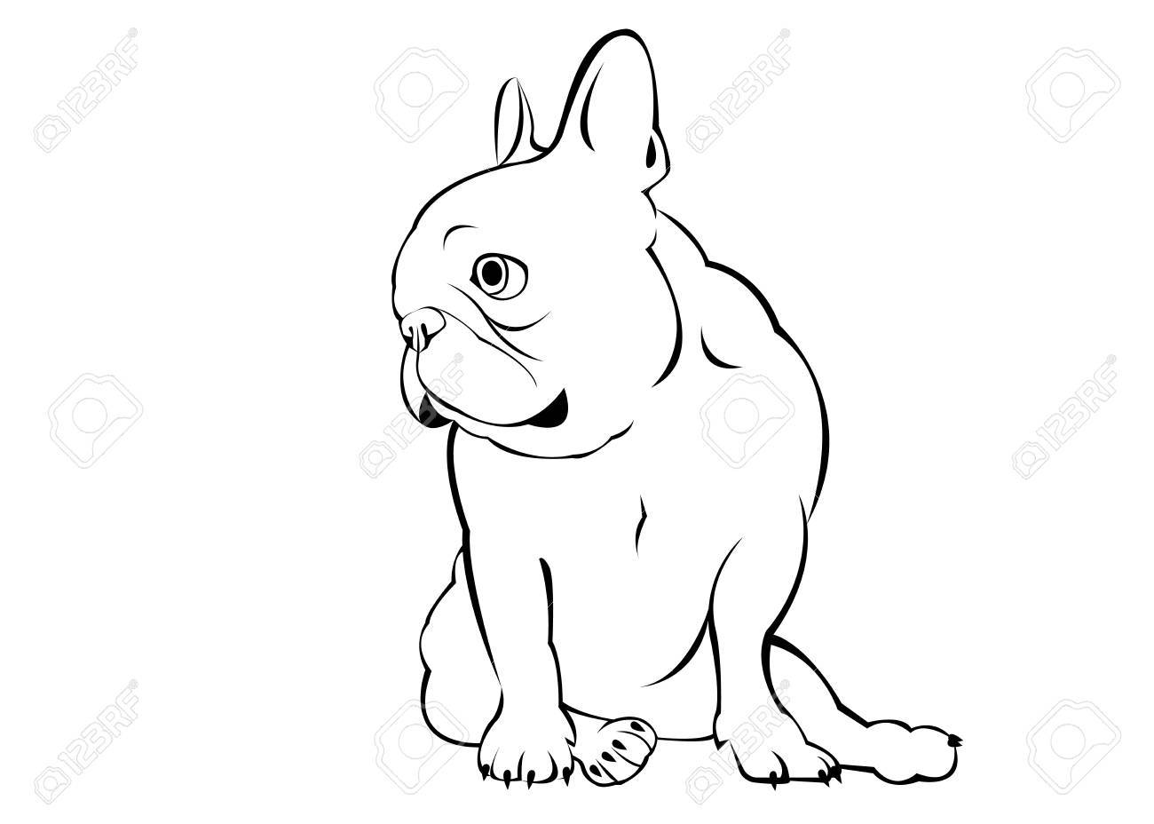 1300x928 French Bulldog Sideview Royalty Free Cliparts, Vectors, And Stock