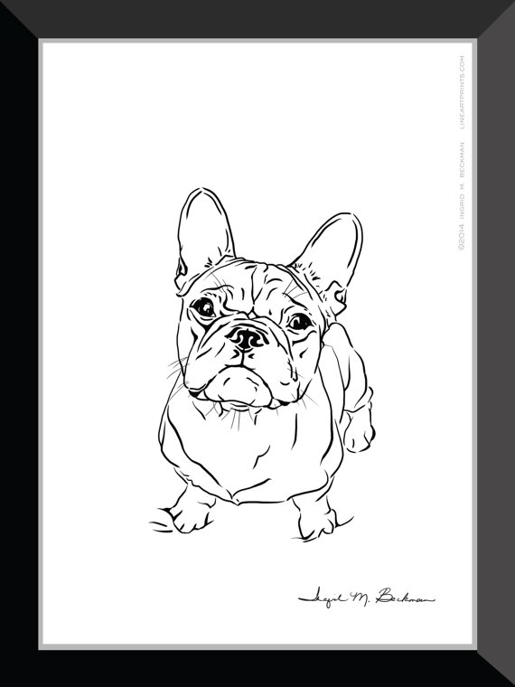 570x760 French Bulldog Art Frenchie Art Dog Art Modern Art Dog