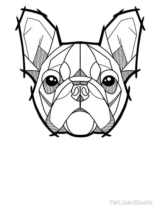 600x800 The French Bulldog Stickers By Fatlizardstudio Redbubble