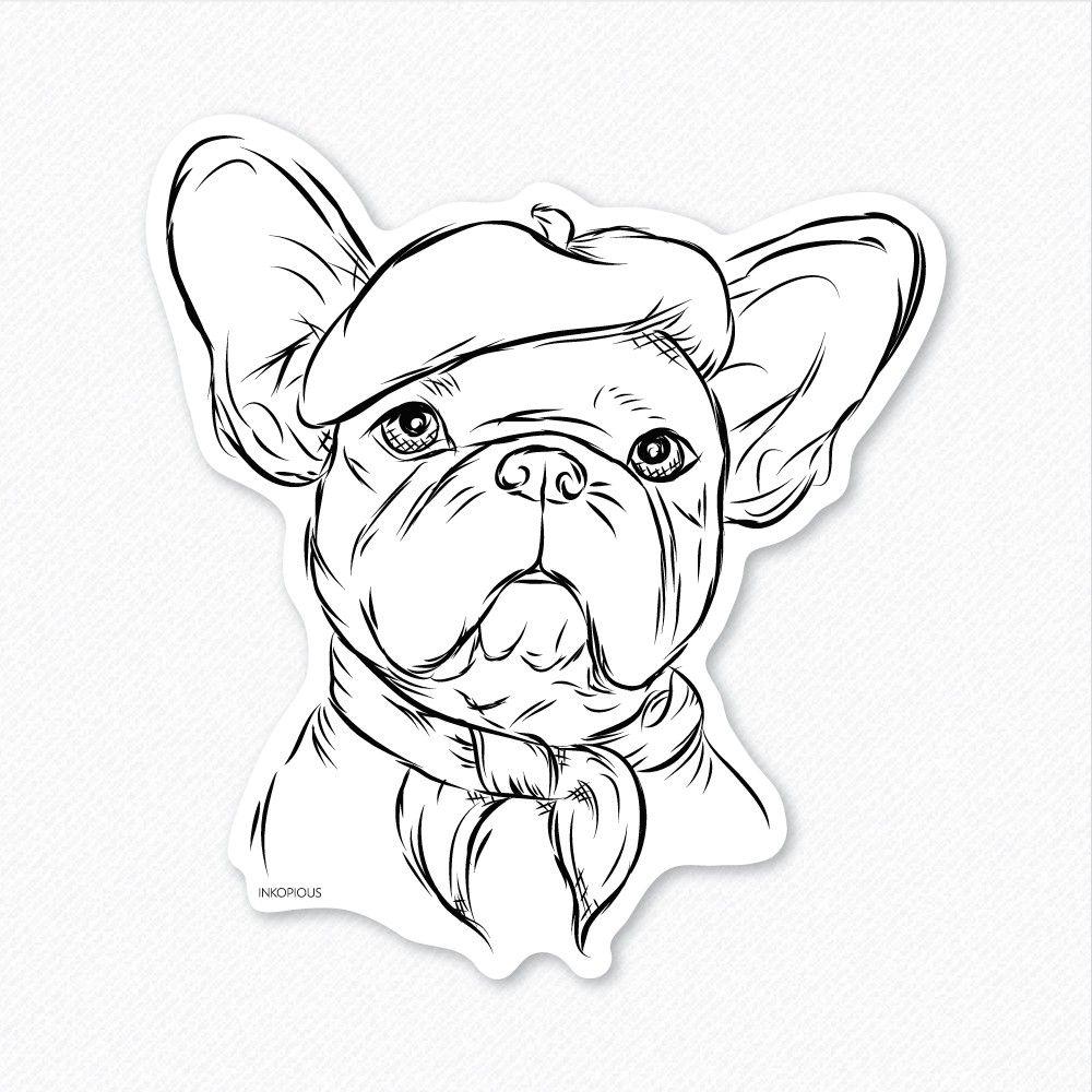 1000x1000 French Bulldog Drawing