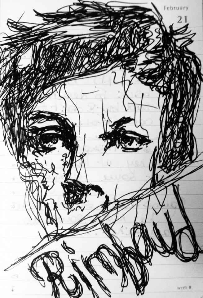 655x960 Quick Doodle Of French Poet Arthur Rimbaud