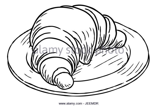 640x433 Croissant French Pastry Hand Draw Stock Photos Amp Croissant French