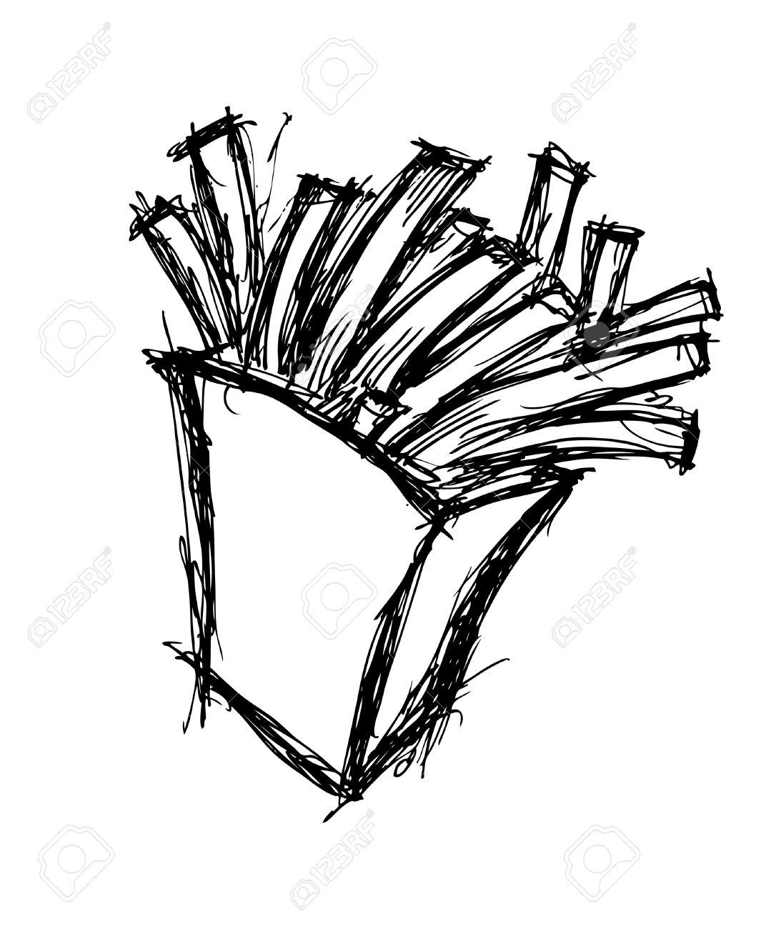 French Fries Drawing at GetDrawings.com | Free for personal use ...