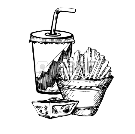 French Fry Drawing