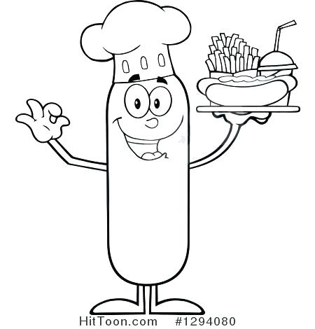 450x470 French Coloring Food Coloring Pages Hamburger And French Fries