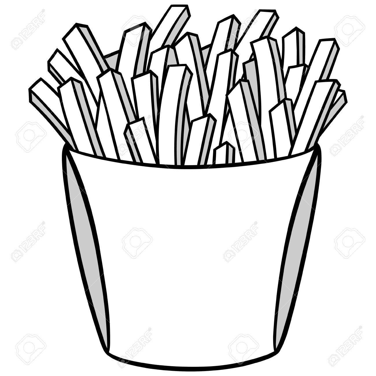 1300x1300 French Fries Illustration Royalty Free Cliparts, Vectors,