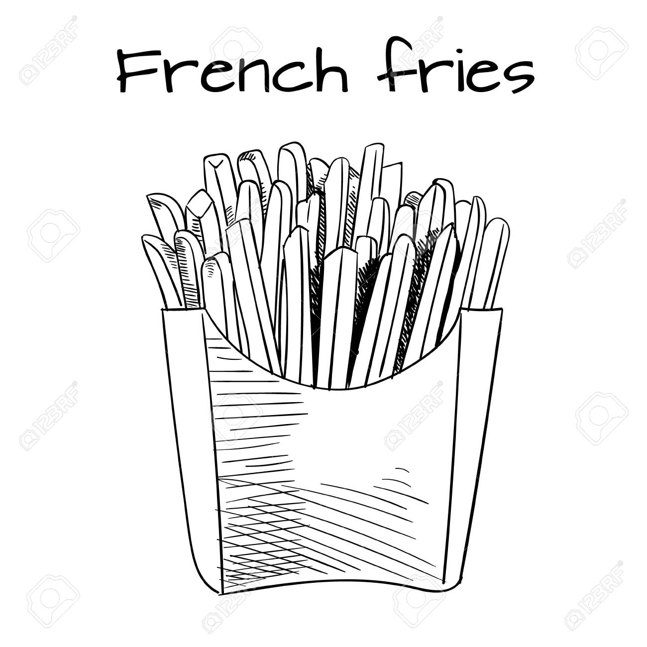French Fry Drawing at GetDrawings.com | Free for personal use French ...