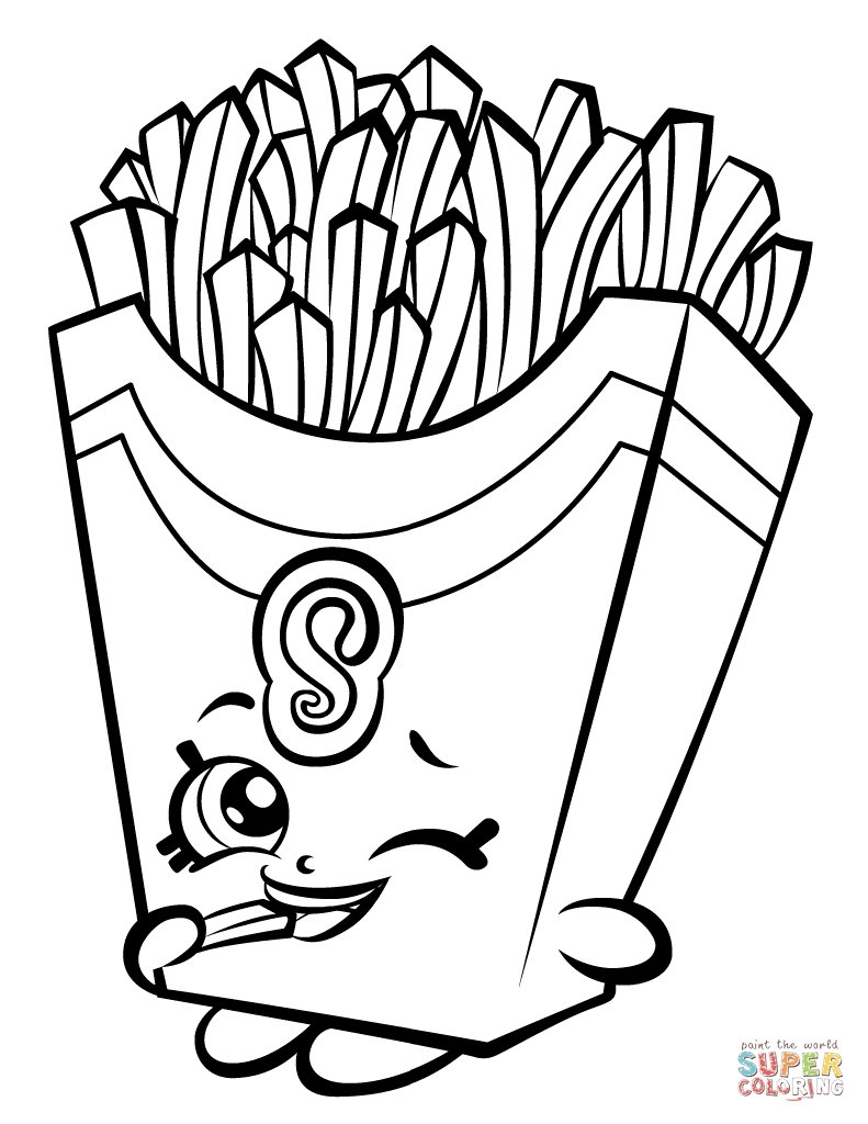 791x1024 Shopkins Coloring Page Fiona French Fry Download