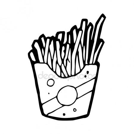 450x450 French Fries Doodle Stock Vector Everydaytemplate