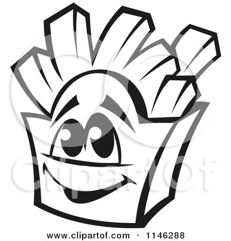 450x470 Clipart Of A Happy Dark Blue French Fry Box Character