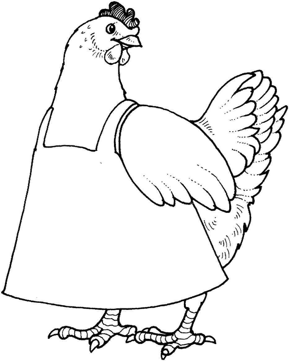 933x1166 Hen Coloring Pages