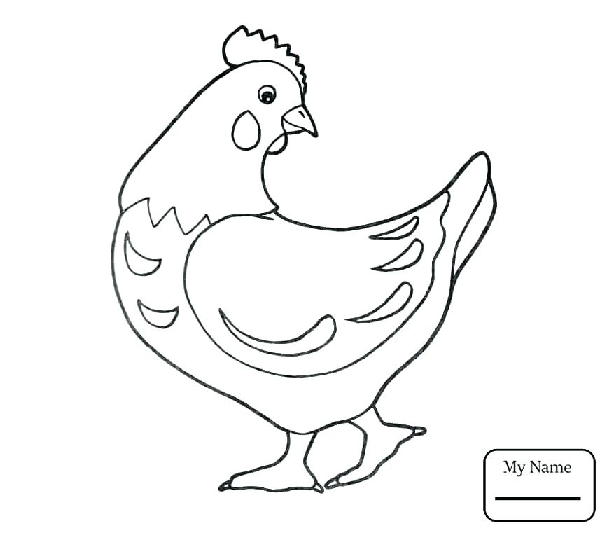 867x761 Hens Coloring Pages Hen And Chicks Coloring Page Hen Coloring