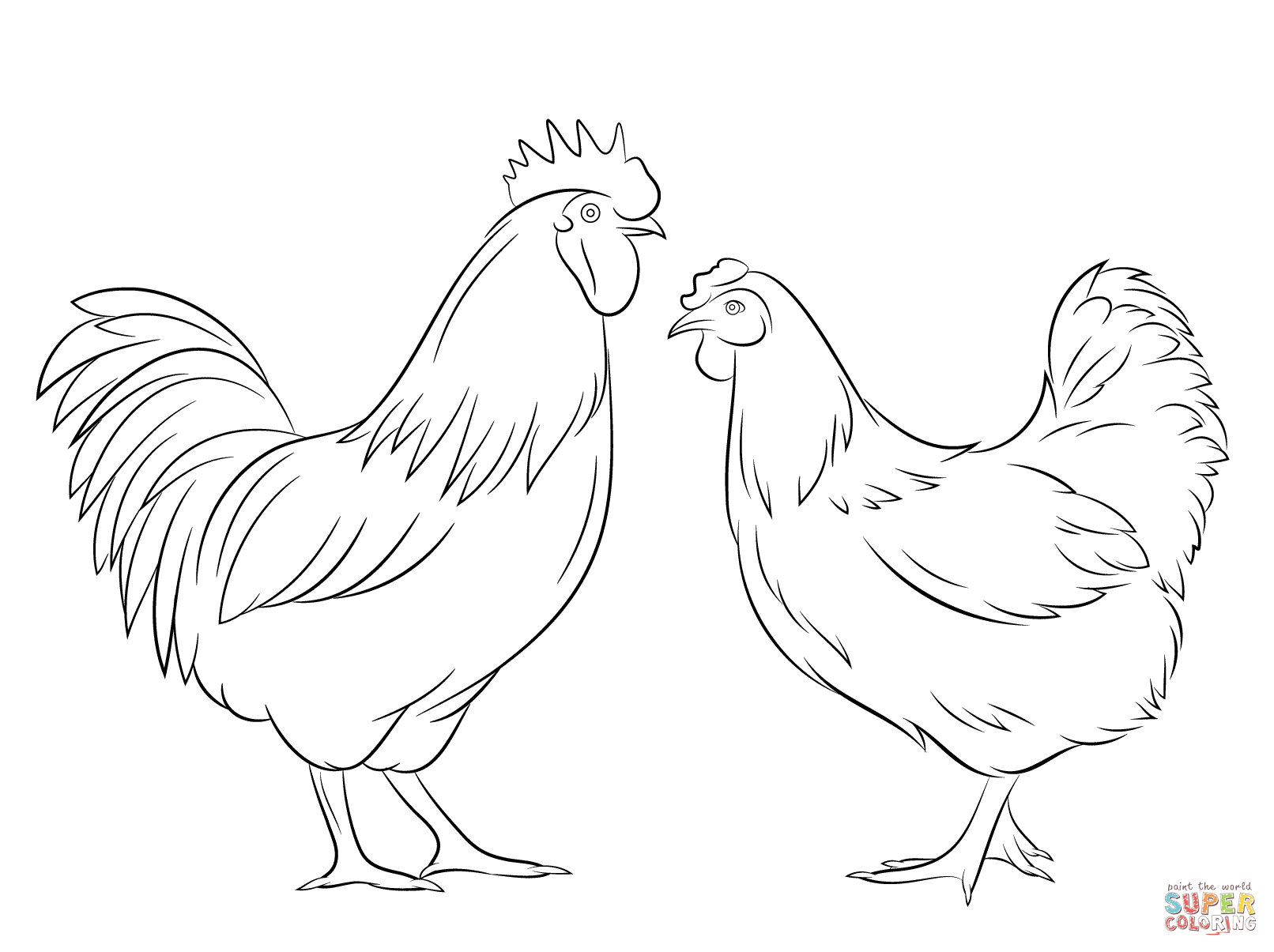 1612x1205 Hen Drawings Outline