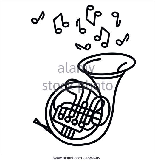 520x540 French Horn Icon Illustration Stock Photos Amp French Horn Icon