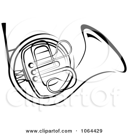 450x470 Clipart Brass French Horn