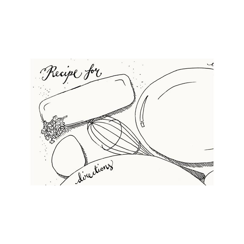 800x800 Doodle Recipe Sheets,and Fridge Magnet Set