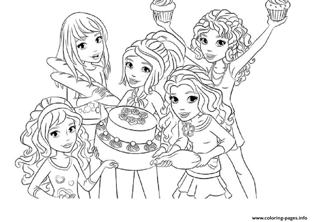 1021x727 Coloring Pages For Girls Lego Friends In Beatiful Draw Image