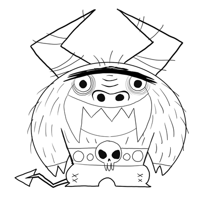 400x400 How To Draw Eduardo From Foster's Home For Imaginary Friends
