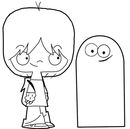 450x445 How To Draw Mac And Bloo From Foster's Home For Imaginary Friends