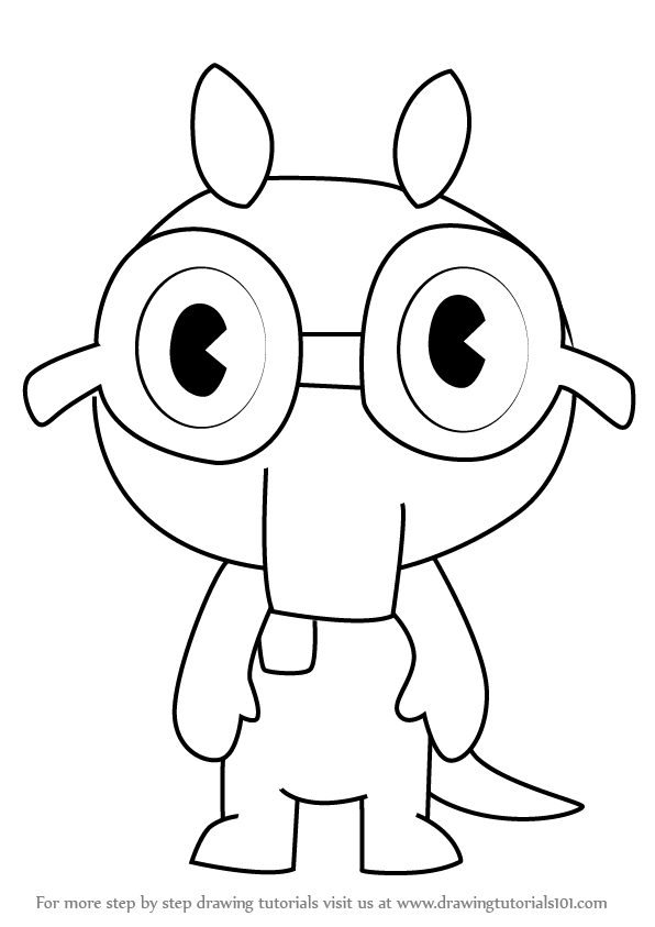 596x843 Learn How To Draw Sniffles From Happy Tree Friends (Happy Tree