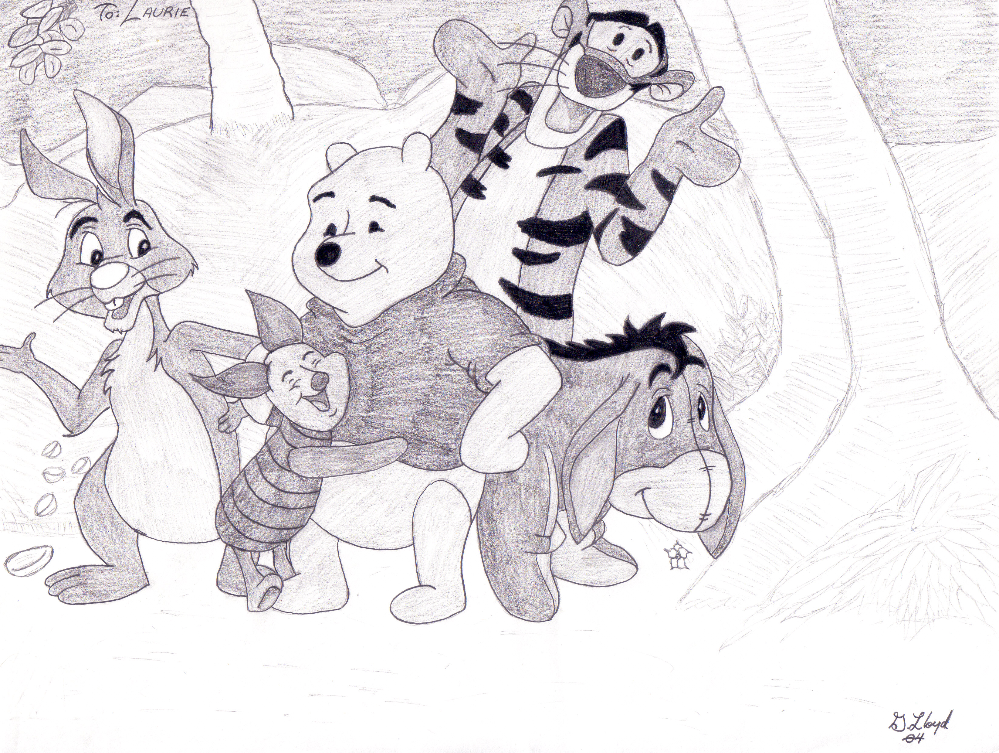 3292x2480 Winnie The Pooh And Friends By Cpllloyd