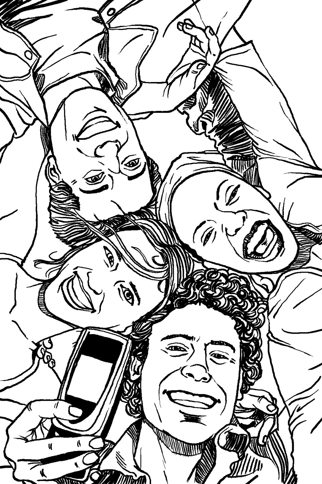 1063x1599 A Group Of Friends By Aio Edward