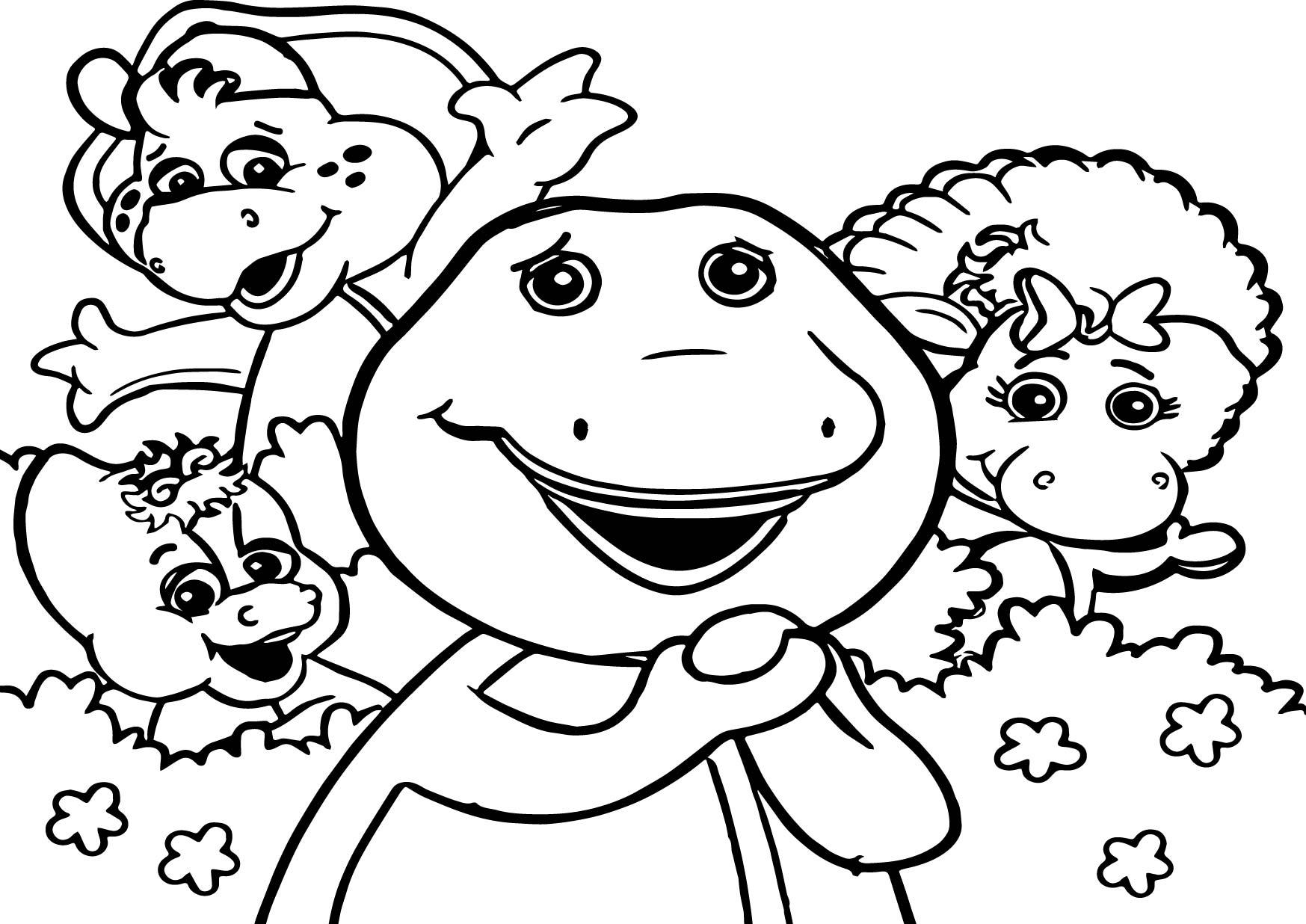 1747x1236 Barney Cartoon Pencil Drawing Barney The Dinosaur Coloring