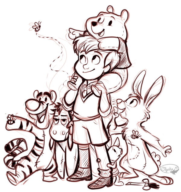600x636 Christopher Robin And Friends By Sharkie19