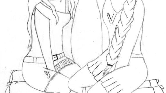 570x320 Anime Friends Drawing Easy Anime Drawings Best Friends Utau