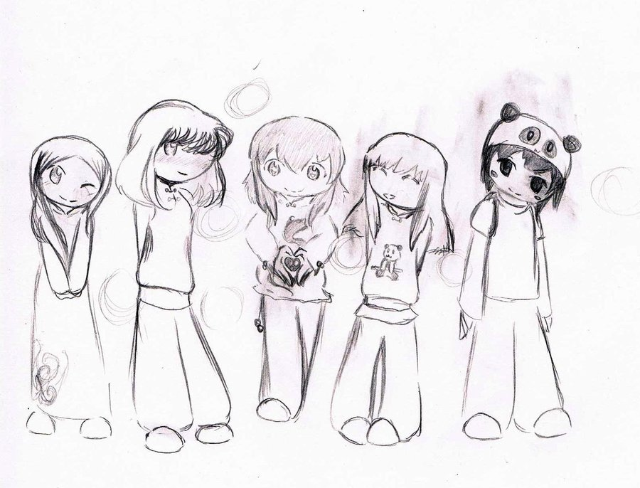900x686 Me And My Chibi Friends By Aquafly920