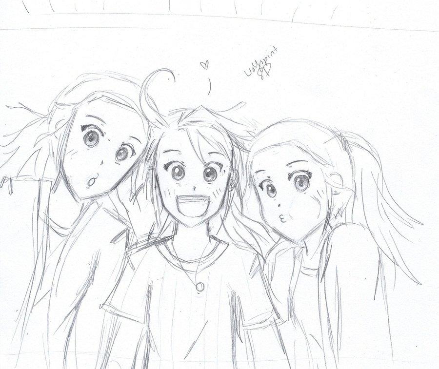 900x757 My Friends Sketch By Wolfspiritsd