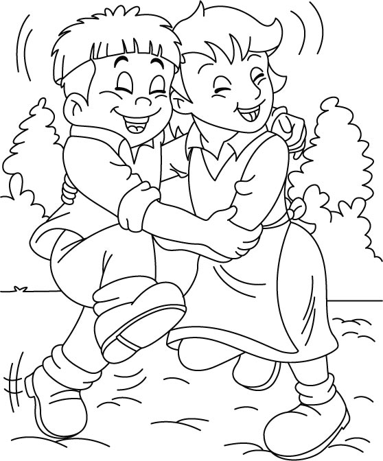 558x672 Friendship Coloring Pages Draw Friendship