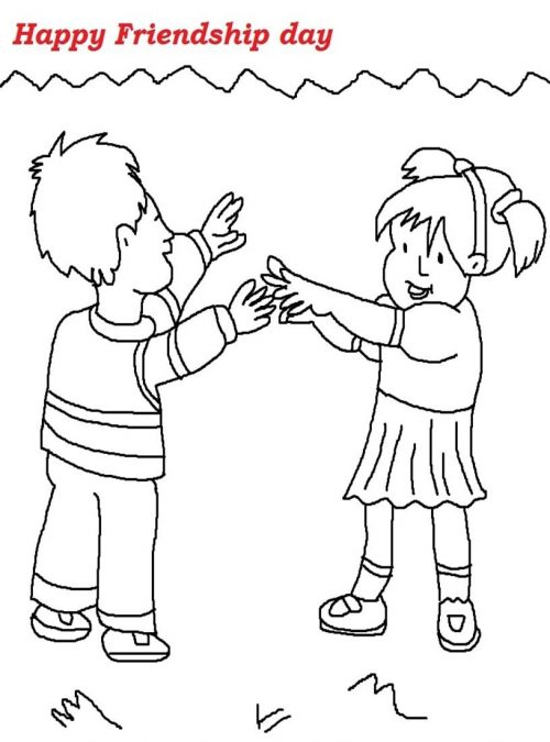 500x675 Friendship Day Printable Coloring Pages 2016 Free Coloring Pages