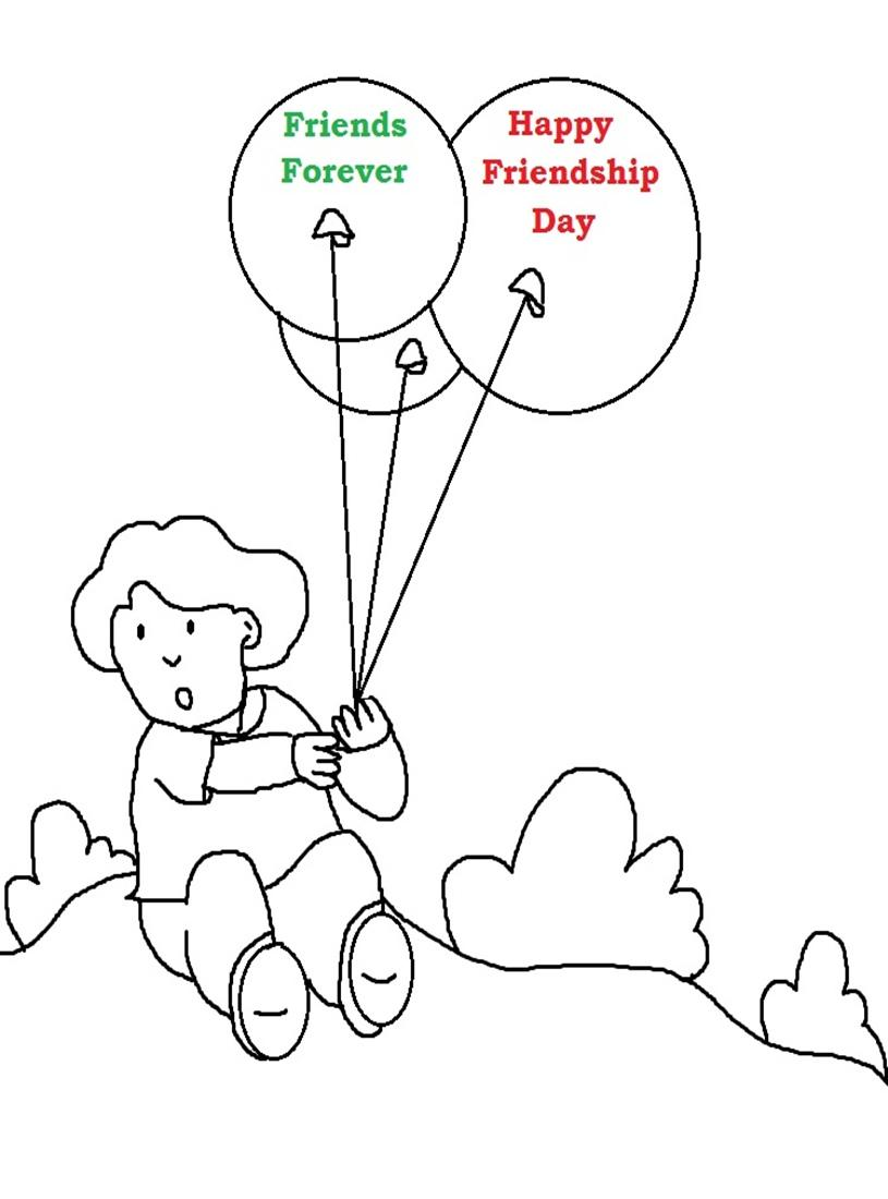 815x1100 Friendship Day Printable Coloring Page For Kids 2