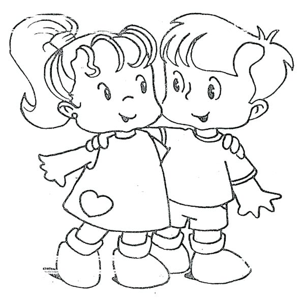 600x586 Best Friends Coloring Pages Friendship You Are My Best Friend