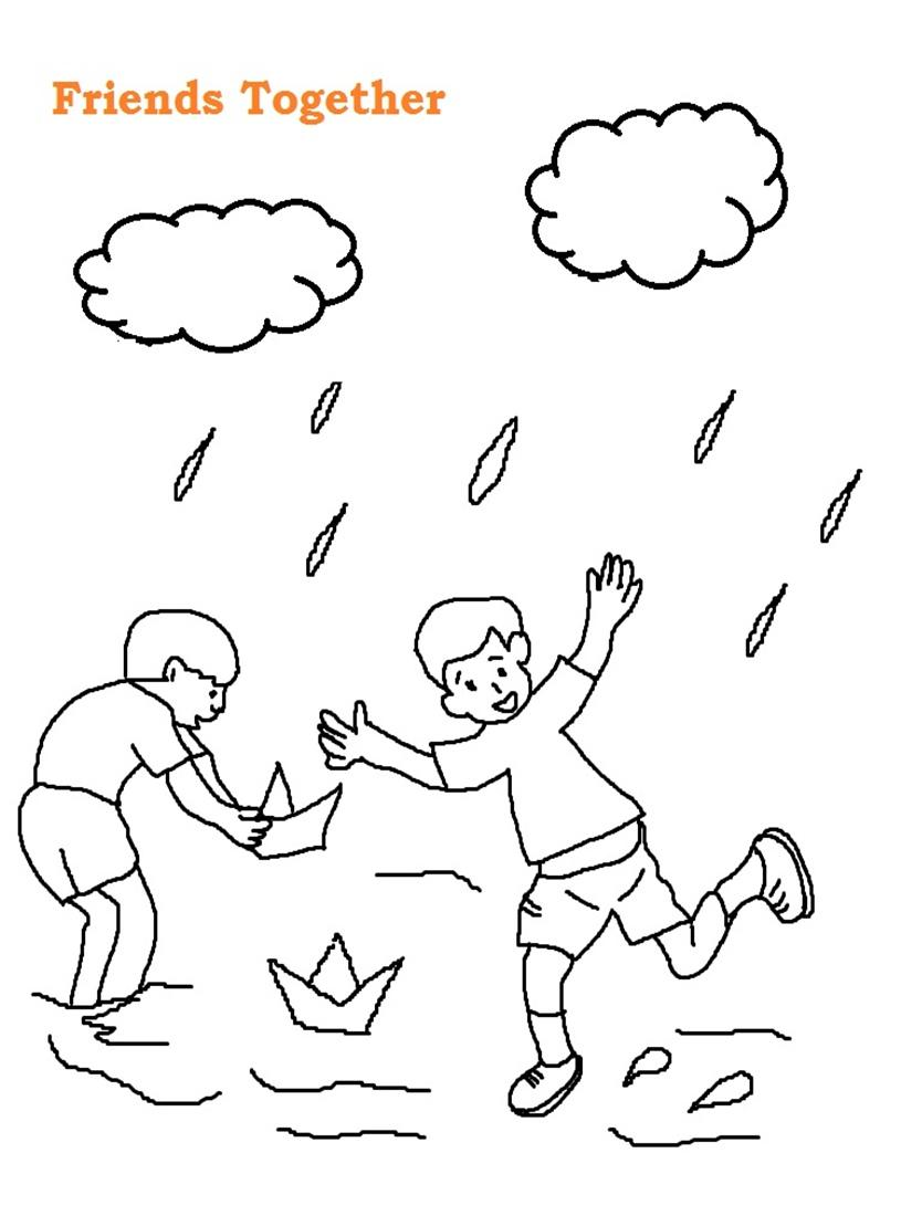 815x1100 Friendship Day Printable Coloring Page For Kids 4