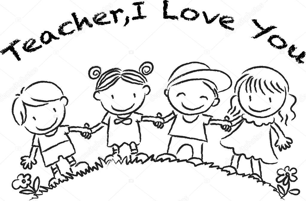 1023x672 Cartoon Drawing Happy Teachers'Day Card Stock Photo Wenpei