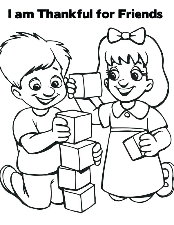 600x776 Coloring Pages Friends Friendship Coloring Page I Am Thankful
