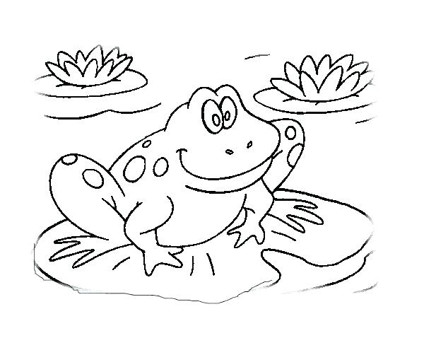 600x478 Cute Frog Coloring Pages Frog Coloring Pages 6 Cute Frog Colouring